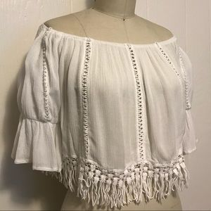 LF White off the shoulder top